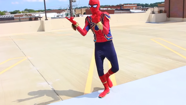 realistic Spiderman costume